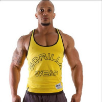 Майка Gorilla Wear Logo Stringer Жёлтая